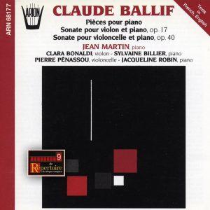 Ballif - Pièces pour Piano & Sonates