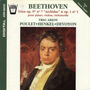 Beethoven - Trios, Op. 97 N° 7 Archiduc & Op. 1 N° 1 pour piano, violon & violoncelle