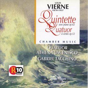 Vierne - Quintette pour piano, Op. 42 & Quatuor à cordes, Op. 12