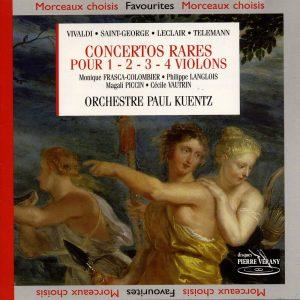 Concertos Rares Pour 1 - 2 - 3 - 4 Violons