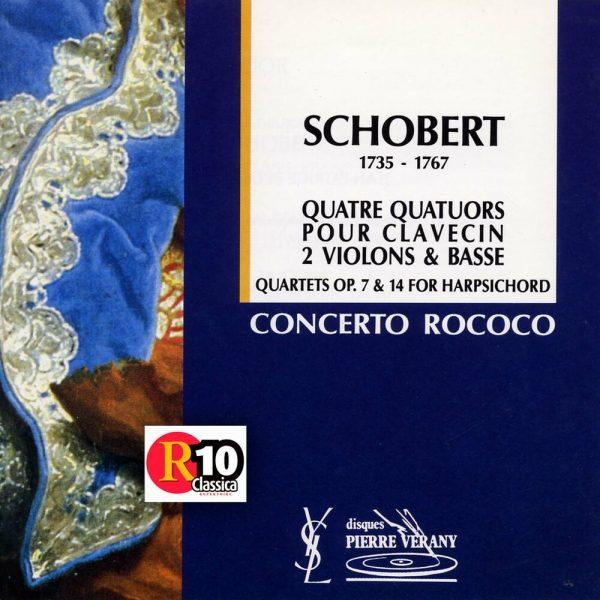 Schobert - 4 quatuors pour clavecin, 2 violons & basse
