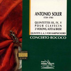 Soler - Quintettes pour  clavecin, 2 violons, alto & basse Vol.1