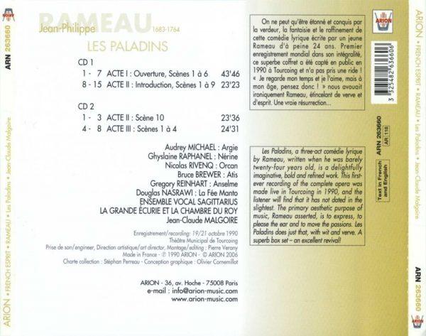 Rameau - Les Paladins - Comédie Lyrique En 3 actes