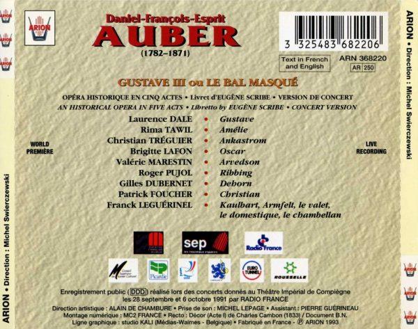 Aubert - Gustave ou Le bal masqué
