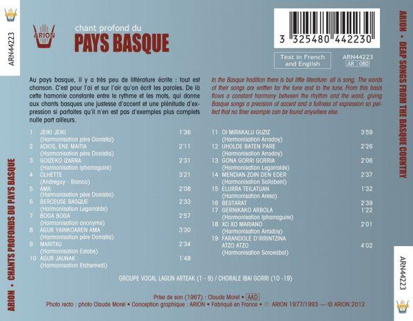 Chants profonds du pays basque