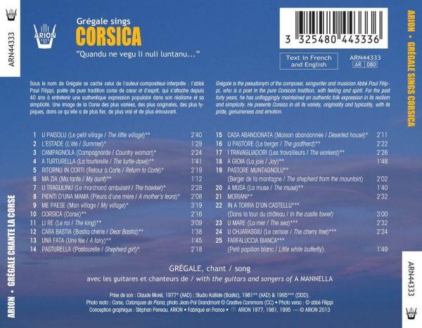 Corsica chanté par l'Abbé Grégale