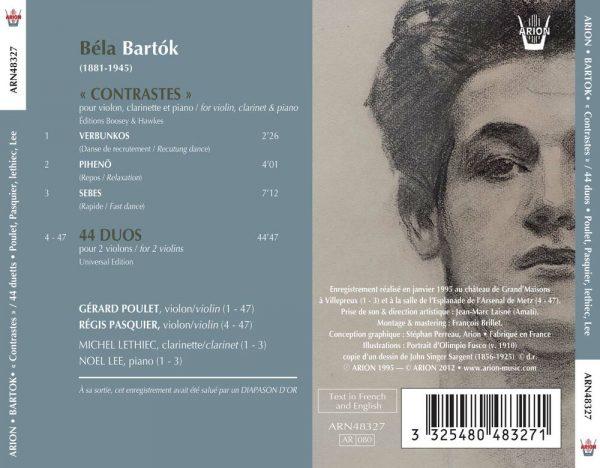 Bartok - Contrastes - 44 Duos pour 2 violons