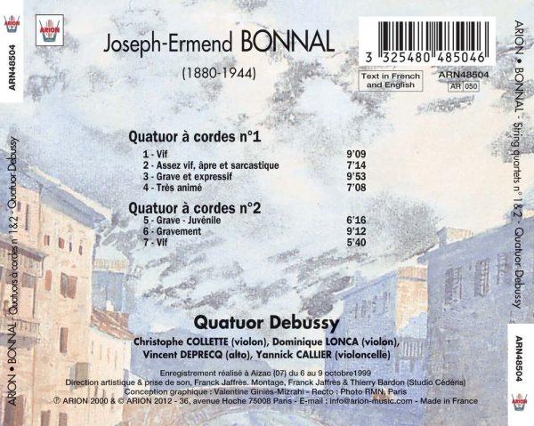 Bonnal - Quatuors à cordes N°1 & 2