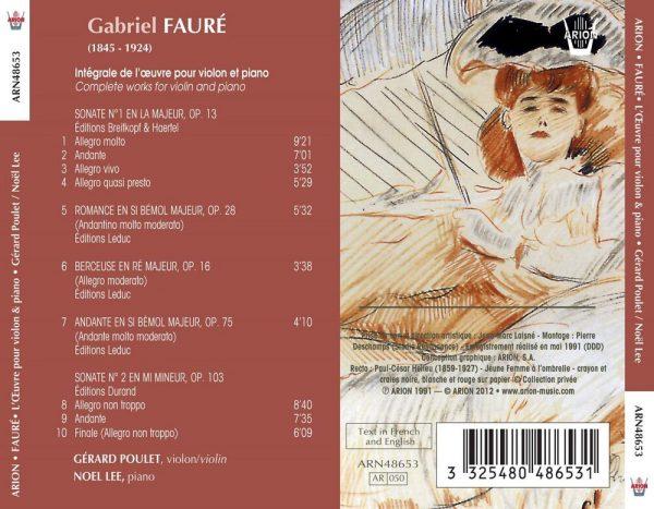 Fauré - Intégrale de l'Œuvre pour Violon & Piano