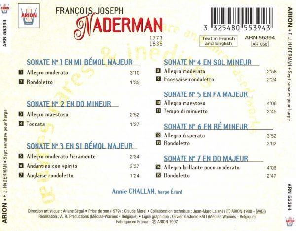 Naderman - Sept Sonates pour harpe