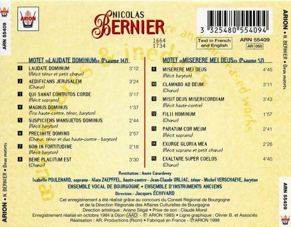 """""""Bernier - Deux Motets - """"""""Laudate Dominum"""""""" & """"""""Miserere Mei Deus"""""""""""""""