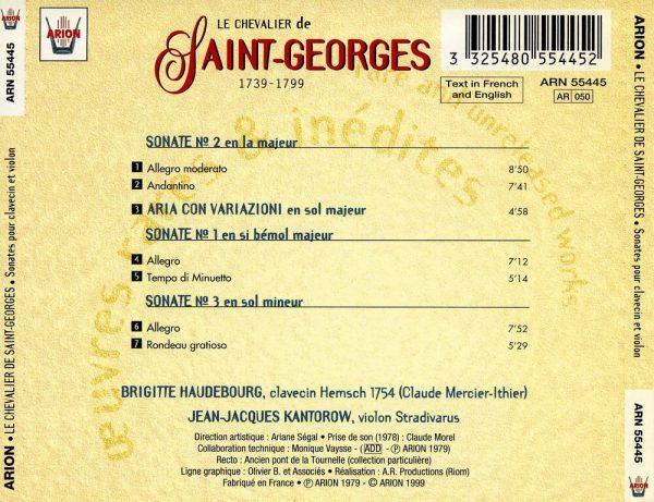 Saint-Georges - Sonates pour Clavecin & Violon