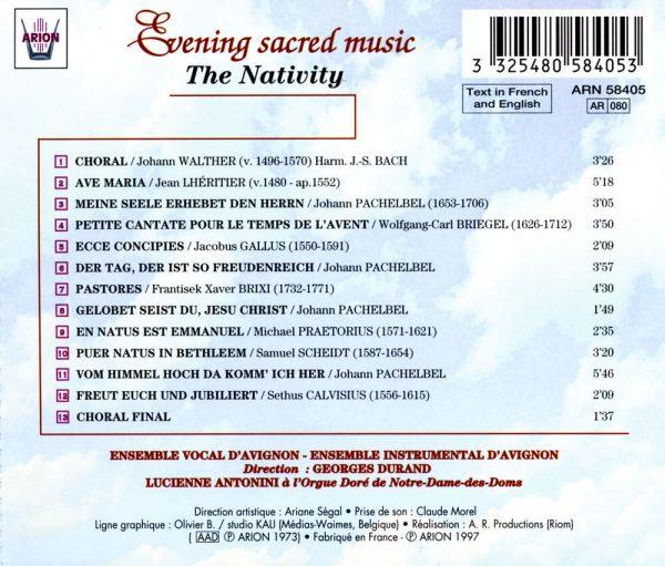 """Musiques Spirituelles du Soir - """"Nativite"""" """