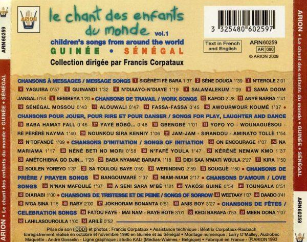 Chant des Enfants du Monde Vol. 1 - Guinée - Sénégal