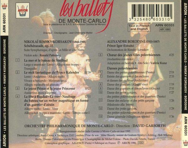 Les Ballets de Monte-Carlo Vol.1 - Rimsky-Korsakov / Borodine