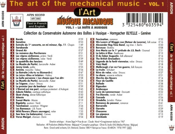 L'Art de la Musique Mécanique Vol. 1