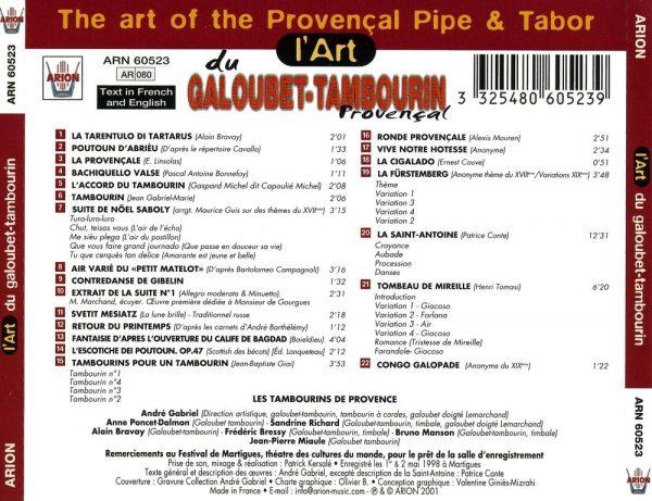 L'Art du Galoubet - Tambourin Provencal