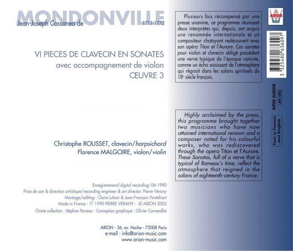 Mondonville - Pieces de Clavecin