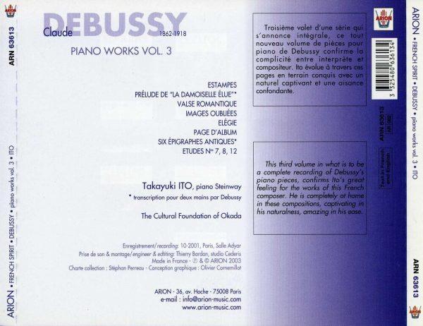 Debussy - Œuvres pour piano - Vol.3