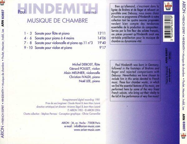 Hindemith - Musique de Chambre