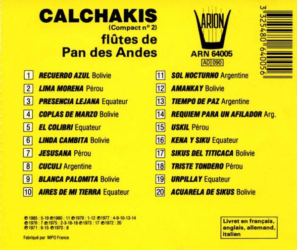 Los Calchakis Vol.2 - Flûtes de Pan des Andes