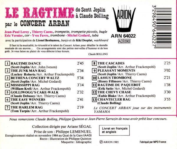 Le Ragtime de Scott Joplin à Claude Bolling
