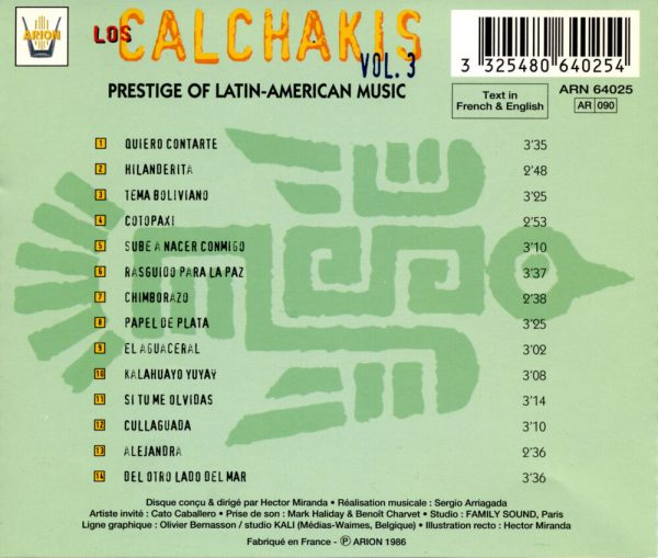 Los Calchakis Vol.3 - Prestige de la Musique latino- américaine