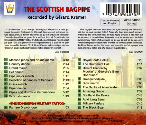 """La Cornemuse écossaise & """"The Edinburgh Military Tatoo"""""""