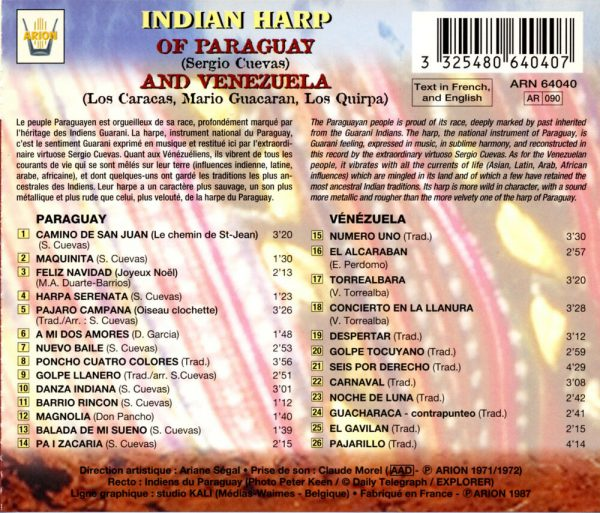 Harpe Indienne Paraguay Venezuela