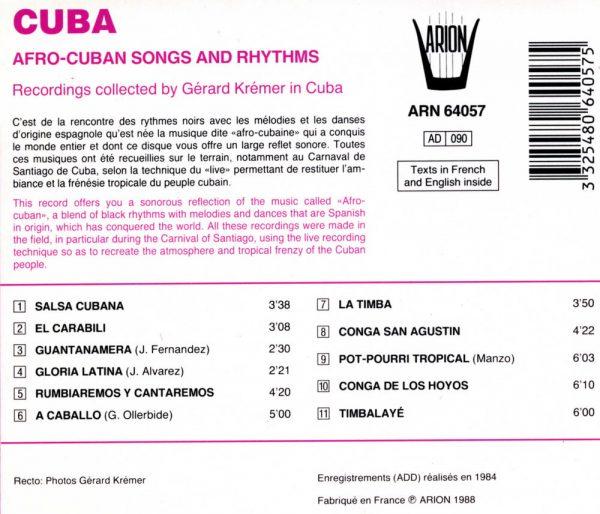 Cuba - Chants et danses Afro-Cubains
