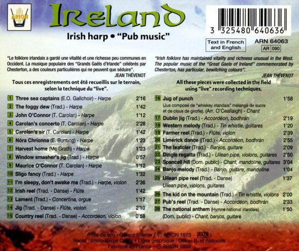 """""""Irlande - Harpe Irlandaise - """"""""Pub Music"""""""""""""""