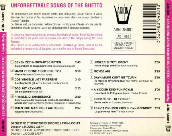 Les Inoubliables chants du Ghetto