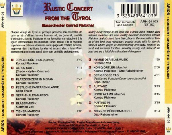 Concert champêtre Tyrolien