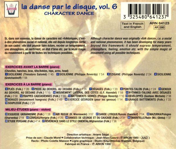 La danse par le disque Vol.6 - Barre & milieu - La danse de caractère