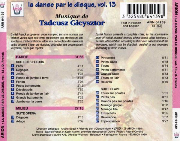 La danse par le disque Vol.13 - Barre & milieu, classe de Daniel Franck