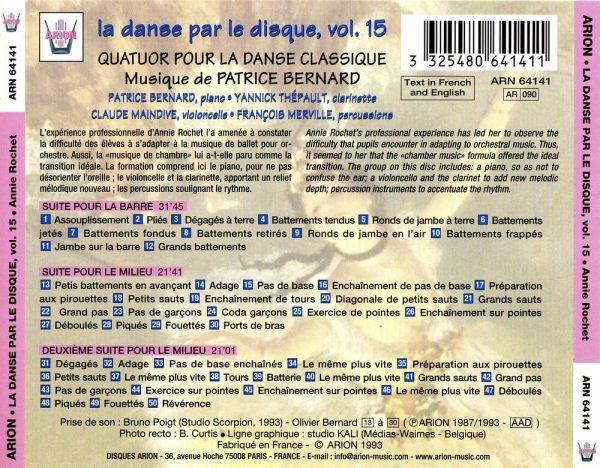 La danse par le disque Vol.15 - Barre & milieu - Quatuor pour la danse classique