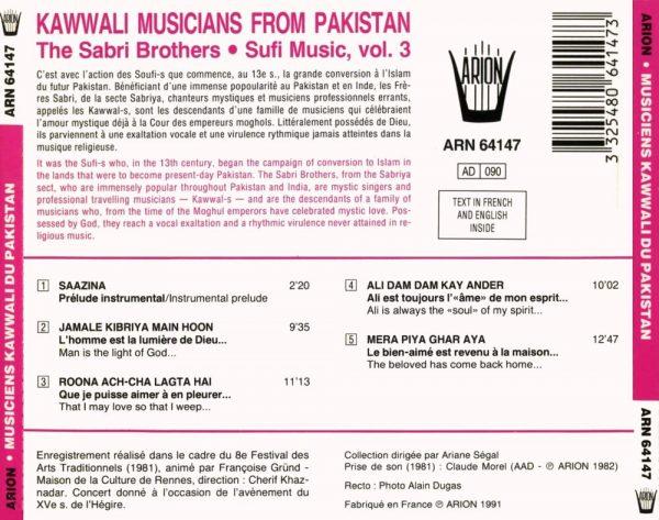 Musiciens Kawwali du Pakistan - Les Frères Sabri - Musique souffi Vol.3