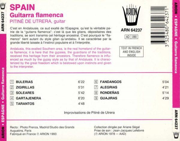 Espagne Guitarra Flamenca