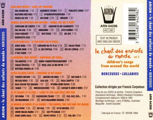 Chant des Enfants du Monde Vol. 3 - Berceuses