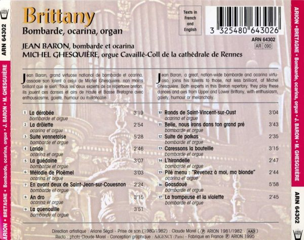 Bretagne - Bombarde, ocarina et orgue