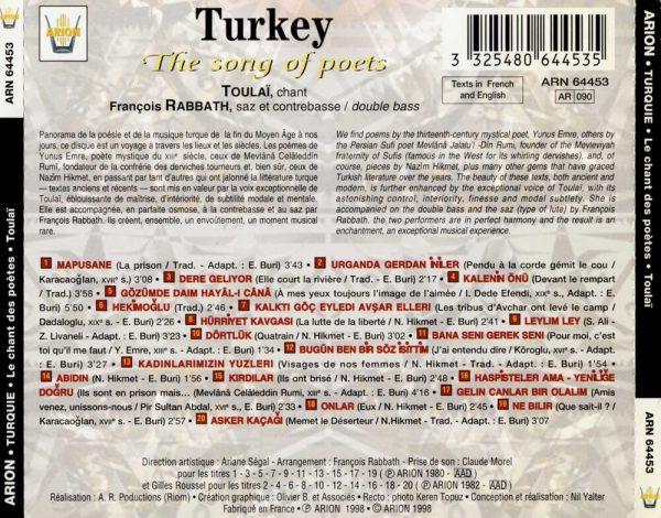 Turquie - Le Chant des poètes