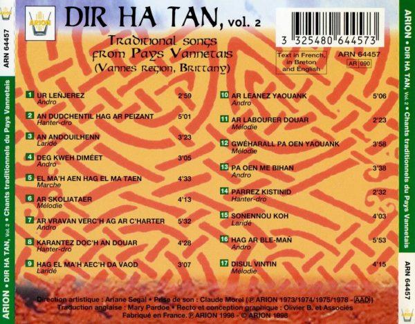Dir Ha Tan, Vol. 2 - Chants traditionnels du pays Vannetais