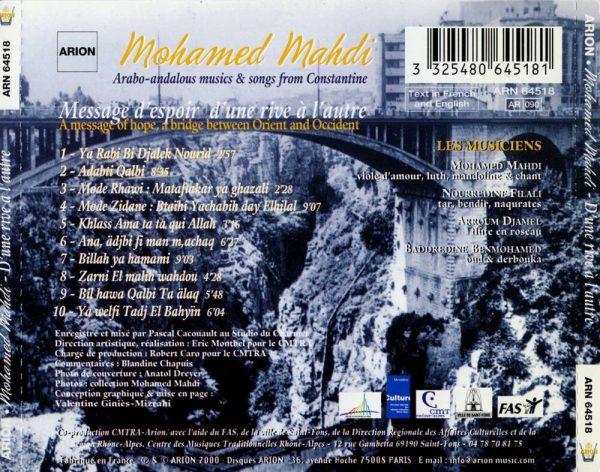 Musiques & Chants Arabo-Andalous de Constantine - Message d'espoir d'une rive à l'autre