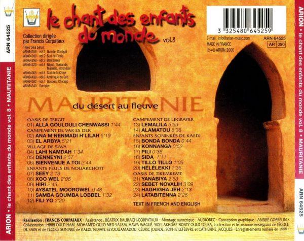 Chant des Enfants du Monde Vol. 8 - Mauritanie - Du désert au fleuve