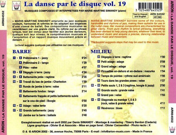 La danse par le disque Vol.19 - Esprit jazz - barre & milieu