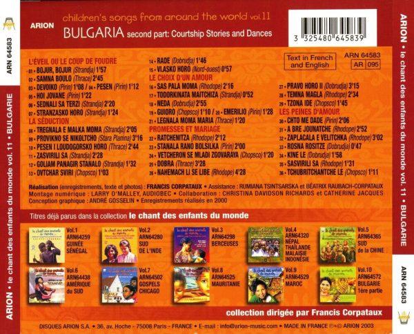 Chant des Enfants du Monde Vol. 11 - Bulgarie Vol.2 - Les héritiers d'une tradition