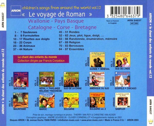 Chant des Enfants du Monde Vol. 12 -  Le voyage de Roman - Wallonie / Pays-Basque / Catalogne / Corse / Bretagne