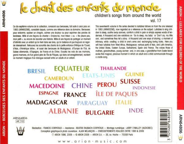 Berceuses des Enfants du Monde Vol. 17