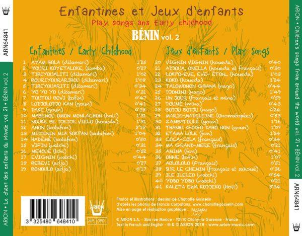 Chant des Enfants du Monde Vol. 21 - Chants du Bénin vol.2 - Enfantines et Jeux d'enfants