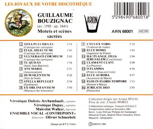 Bouzignac - Motets & Scènes Sacrées - Musique spirituelle à l'époque de Louis XIII